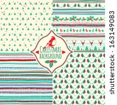 Set Of Four Christmas Patterns