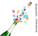 party concept with champagne
