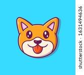 cute dog face vector icon...   Shutterstock .eps vector #1631494636