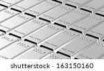 Palladium ingots background. Computer generated 3D photo rendering. - stock photo