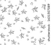 stars seamless vector doodles... | Shutterstock .eps vector #1631507089