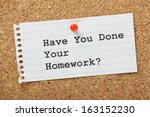 have you done your homework ... | Shutterstock . vector #163152230