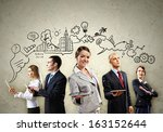 image of young businesspeople...   Shutterstock . vector #163152644