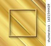 golden modern frame border... | Shutterstock .eps vector #1631544439