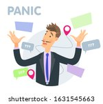 vector illustration panic at... | Shutterstock .eps vector #1631545663