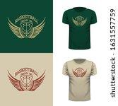 basketball t shirt illustration.... | Shutterstock .eps vector #1631557759