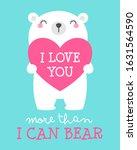 cute bear cartoon illustration... | Shutterstock .eps vector #1631564590
