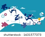 business competition. the team... | Shutterstock .eps vector #1631577373