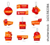 vector stickers  price tag ... | Shutterstock .eps vector #1631582386