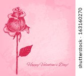 beautiful hand drawn rose.... | Shutterstock .eps vector #163160270