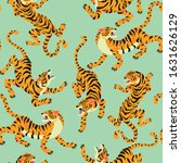 tiger seamless pattern. vector... | Shutterstock .eps vector #1631626129