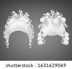 white curly girl wig  women... | Shutterstock .eps vector #1631629069