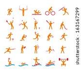 sport icons set | Shutterstock .eps vector #163167299
