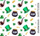 watercolor saint patrick's day...   Shutterstock . vector #1631711026