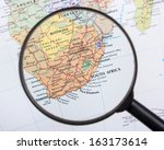 south africa under magnifier | Shutterstock . vector #163173614