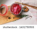 Homemade Pickled Red Onions In...