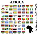 flags of africa  complete set... | Shutterstock . vector #163178408