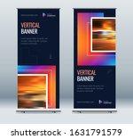 blue business roll up banner.... | Shutterstock .eps vector #1631791579