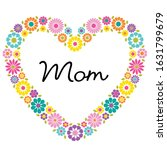 mom typography graphic with... | Shutterstock .eps vector #1631799679