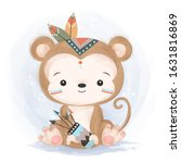 cute animals  watercolor... | Shutterstock .eps vector #1631816869