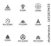 outdoors logos. set of outdoors ... | Shutterstock .eps vector #1631819653