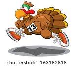 turkey trot | Shutterstock .eps vector #163182818