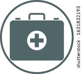 first aid icon. vector...