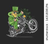 st. patrick's day motorcycle... | Shutterstock .eps vector #1631838196