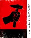 agresión,brazo,fondo,negro,construir,dibujos animados,construcción,esfuerzo,equipo,puño,libertad,martillo,mano,hardware,celebración
