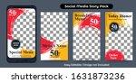 social media story template for ... | Shutterstock .eps vector #1631873236
