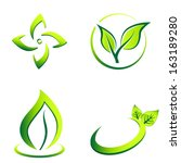 green eco icons | Shutterstock .eps vector #163189280