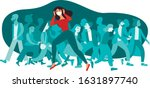 woman wearing protective... | Shutterstock .eps vector #1631897740