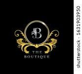 b letter golden  circle luxury  ... | Shutterstock .eps vector #1631903950