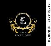 e letter golden  circle luxury  ... | Shutterstock .eps vector #1631903953