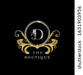d letter golden  circle luxury  ... | Shutterstock .eps vector #1631903956