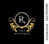 r letter golden  circle luxury  ... | Shutterstock .eps vector #1631903980