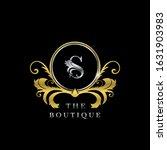s letter golden  circle luxury  ... | Shutterstock .eps vector #1631903983