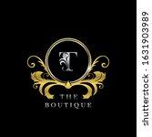 t letter golden  circle luxury  ... | Shutterstock .eps vector #1631903989