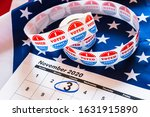 Small photo of On November 3, 2020, American citizens have a duty to vote in presidential elections.
