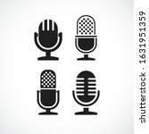 microphone vector icons set...   Shutterstock .eps vector #1631951359