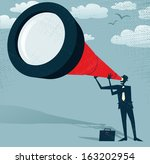abstract businessman looks... | Shutterstock .eps vector #163202954