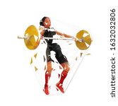 weightlifting squats  strong... | Shutterstock .eps vector #1632032806