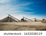 Small photo of Russia, industrial stone production, crushed stone production, stone mining, crushed stone mining plant