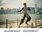 hong kong   august 29  avenue... | Shutterstock . vector #163204853