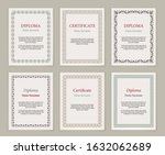 decorative frames and borders.... | Shutterstock .eps vector #1632062689