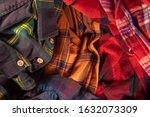 brightly colored checkered... | Shutterstock . vector #1632073309