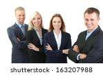 group of business people... | Shutterstock . vector #163207988
