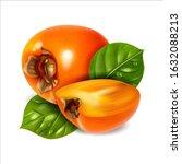 persimmon fruit vector...   Shutterstock .eps vector #1632088213