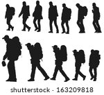 The Silhouette Of Hikers...