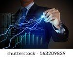closeup image of businessman... | Shutterstock . vector #163209839